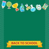 Back to school board items Royalty Free Stock Photography