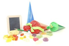 Back to School with board and school cone Royalty Free Stock Photography