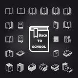 Back to school book icons vector vector illustration
