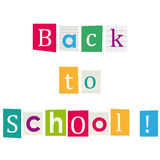 Back to school ! Books letters. Education background. Stock Photos