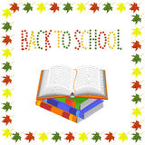 Back to school. books and an open book vector Stock Photo