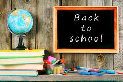 Back to school. Books and school tools . Stock Photography