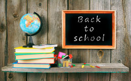 Back to school. Books and school tools . Royalty Free Stock Image
