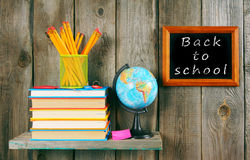 Back to school. Books and school tools . Royalty Free Stock Photo