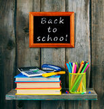 Back to school. Books and school tools . Royalty Free Stock Photos