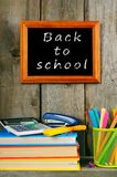 Back to school. Books and school tools . Royalty Free Stock Photography