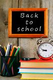 Back to school. Books and school tools . Royalty Free Stock Images