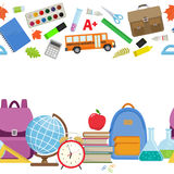 Back to school border Royalty Free Stock Images