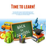 Back to school border Royalty Free Stock Photos