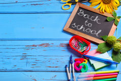 Back to school border with text Stock Photography