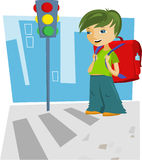 Back to school - boy. Vector Royalty Free Stock Images
