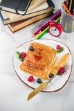 Back to school breakfast pancakes stock images