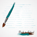 Back to school, brush Royalty Free Stock Image