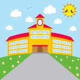 Back To School Building vector illustration