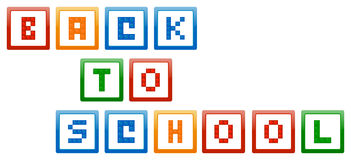 Back To School Building Blocks. Vector Illustration Stock Photo