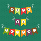 Back to school bunting. Cute Back to School bunting flags royalty free illustration