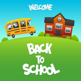 Back to School bus carries children study Stock Photography