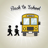 Back to school bus Stock Photo