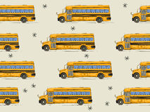 Back to school bus pattern Royalty Free Stock Photos