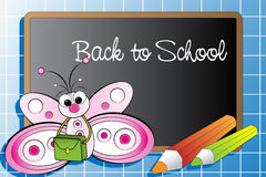 Back to school with a butterfly Stock Image