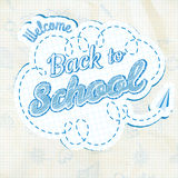 Back to School Calligraphic Design. EPS 10 Royalty Free Stock Image