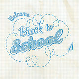 Back to School Calligraphic Design. EPS 10 Stock Photo