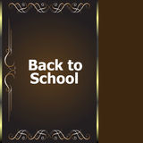 Back to school calligraphic designs, retro style elements, typographic and education Stock Photography