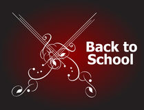 Back to School Calligraphic Designs, Retro Style Elements Royalty Free Stock Image