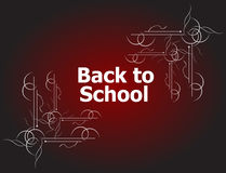 Back to school calligraphic designs, retro style elements, typographic and education Stock Photos