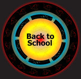 Back to School Calligraphic Designs, Retro Style Elements, Vintage Ornaments Stock Images