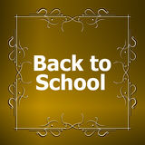 Back to School Calligraphic Designs, Retro Style Elements, Vintage Ornaments Royalty Free Stock Photo