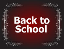 Back to School Calligraphic Designs, Retro Style Elements, Vintage Ornaments Royalty Free Stock Photography