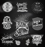 Back to School calligraphic designs Royalty Free Stock Photos