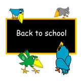 Back to school caption Royalty Free Stock Image