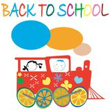Back to school card Stock Photo