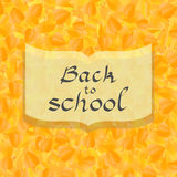 Back to school card with autumn leaves background, in vector.  Stock Photo