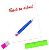 Back to school card design. Vector illustration Stock Photography