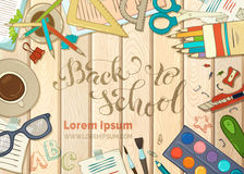 Back to school card. Royalty Free Stock Photos