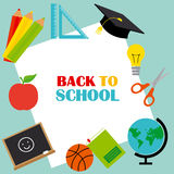 Back to School card Royalty Free Stock Photos