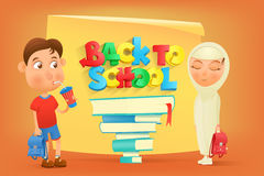 Back to school card template Royalty Free Stock Photography