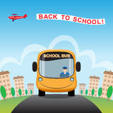 Back to School cartoon background. Stock Image