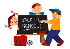 Back to school cartoon Stock Photos