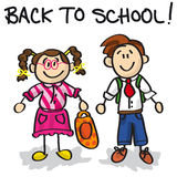 Back to school cartoon characters stock illustration