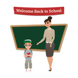 Back to School cartoon Characters Stock Photos