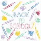 Back to school, cartoon  illustration. Stock Photo