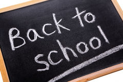 Back to School chalk blackboard message reminder Stock Images