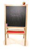Back to school chalk board. Studio cutout Royalty Free Stock Images