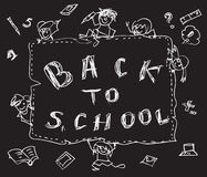 Back to school chalk doodles Stock Photos