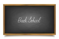 Back to school. School chalk font, , big black board Stock Photography