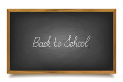 Back to school. School chalk font, , big black board Royalty Free Stock Photos